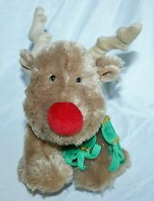 Russ Nosey Plush stuffed Red Nose Christmas Reindeer Toy soft Lovey