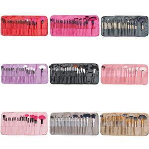 24PCS Professional Make up Brushes Set Cosmetic Tool Kabuki Makeup & Free Bag