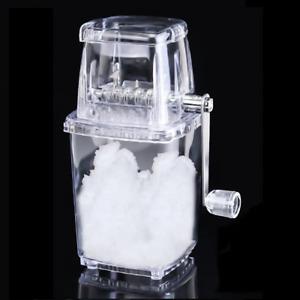 Manual Ice Shaver Crusher Portable Hand Crank Slushies Smoothie Snow Cone Maker