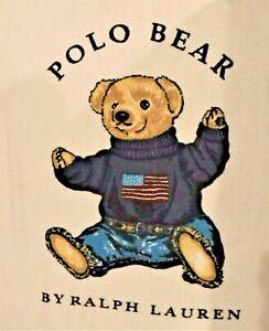 Polo Bear By Ralph Lauren Large Beach Towel American Flag Vintage Classic HUGE