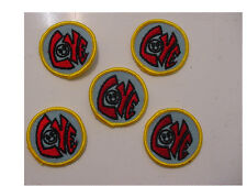 "LOT of 20 Vintage ""LOVE"" with Smiley Face,2""Round -red letters embroidered/ iron"