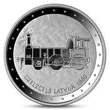"LATVIA Lettonia 1 LATS coin 2011 Railway in Latvia, ""Dzelzceļš Latvijā"" SILVER"