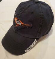 NWOTs~'47 Baltimore Orioles O's Distressed Black Adjustable Clean Up Cap OSFA
