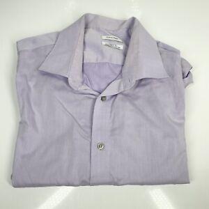 "Men's Calvin Klein Purple Shirt 18.5"" Collar XL Reg Fit Small Stain (1315 D7)"