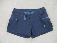 Columbia Shorts Women Medium Blue Gray Outdoors Climber Hiking Casual Ladies