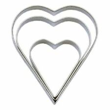 """Tala 3 Hearts Baking Biscuit Scone Cookie Pastry Cake Icing Craft Cutter 10cm 4"""""""