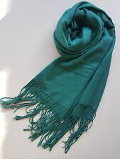 Premium Gorgeous Ladies Cotton Viscose Shawl Tassel Wrap Scarf Hijab GREEN
