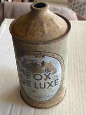 Fox Deluxe Beer Fox Deluxe Brg Co Marion Indiana One Quart Cone Top