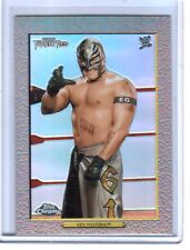 WWE Rey Mysterio Turkey Red 2007 Topps Heritage II Chrome Refractor Insert Card