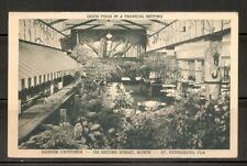 USA. Garden cafeteria St Petersburg FL. Vintage postcard