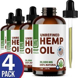 Hemp Oil 30,000 mg For Pain Relief Anxiety, Sleep 4 oz (4 x 1 oz)