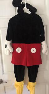 Disney Store Mickey Mouse Children's Halloween Costume Dress Up Child Size XXS