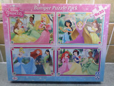 Disney Princess Bumper Puzzle Pack of 4 x 35 Pieces 3+ Brand New Factory Sealed