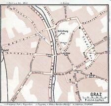 Graz 1939 kl. Leuna-Transit-Autokarte - zeitgenöss. Platz-Umbenennung