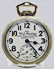 16s, 21J Ball-Hamilton RR Grade PW WORN By W.L. Fredeking Of The C & O Railroad!