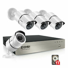 ZOSI 1080p 8ch DVR 1tb 8 720p Outdoor Home Security Camera System Night Vision