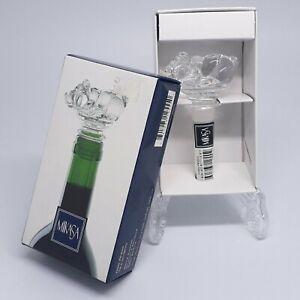 Mikasa Crystal Farm Friend Bottle Stopper With Box Pig Barware Wine Animal Bar