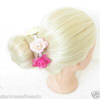 Rosa Creme Rose Blume Braten Girlande Einfassung Halterung Haargummi Top Knoten