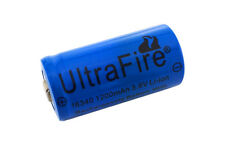 1x UltraFire 16340 cr123 cr123a rcr123a Li-ion ricaricabile batteria 1200 mAh