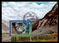 Wildkatze Manul. Block. Gest. Tadschikistan 1996