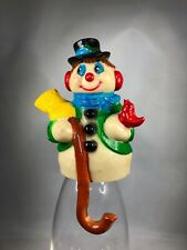CHRISTMAS VINTAGE STOCKING HOLDER / HANGER LOT OF GIFTCO INC. Snowman