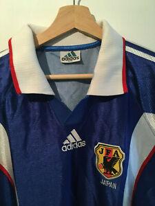 Adidas Japan Trikot Vintage Jersey 90s 90er Blau Longsleeve