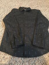 URBAN PIPELINE BOY'S  CHARCOAL GRAY LONG SLEEVE BUTTON UP SHIRT SIZE M 10/12