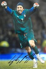 Gianluigi Buffon signed 12x8 Italy photo UACC AFTAL RACC Trusted dealer