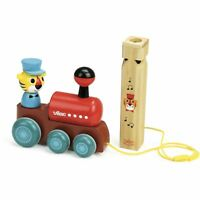 Vilac TRAIN PULL TOY WITH WHISTLE Children Wooden Toy Game Pre-School BN