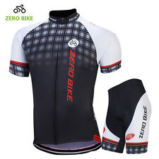 Mens Outdoor Clothing Cycling Jersey Set Bicycle Suit Bike Top & 3D Gel Shorts