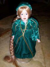 Rapunzel vintage porcelain doll by Franklin Mint Special Christmas gift