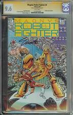 MAGNUS ROBOT FIGHTER #4 SS CGC 9.6 AUTO JIM SHOOTER