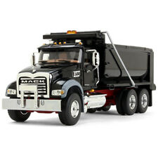 First Gear 50-3386 Mack Granite Dump Truck - Black / Red 1/50 Die-cast MIB