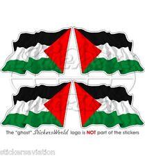 PALÄSTINA Wehende Flagge Palästinensischen Staat Fahne Sticker Aufkleber 50mm x4