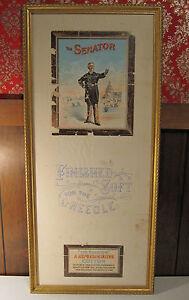 ANTIQUE VICTORIAN COTTON TEXTILE SEWING THE SENATOR LITHO SALESMAN SAMPLER RARE