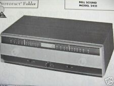 BELL SOUND 2421 TUNER RECEIVER PHOTOFACTS PHOTOFACT