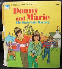 Donny and Marie Tell-A-Tale Book, The State Fair Mystery, 1977 Whitman Book