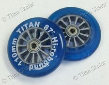 110mm BLUE Scooter Wheels with Bearings Razor Pro XX, MGP Ninja/Nitro Compatible