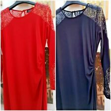 V-Neck Dresses Size Petite for Women with Sequins