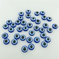 19965 150pcs Loose 8mm Blue Evil Eye Acrylic Flatback Cabochon Jewelry Findings