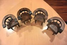 Miniature Doll House Wooden Chairs 4 Piece Dark Stain
