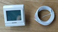 Underfloor heating touchscreen thermostat, programmable, white