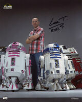 LEE TOWERSEY SIGNED AUTOGRAPHED 8x10 PHOTO R2D2 BUILDER STAR WARS BECKETT BAS