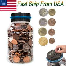 Large Digital Coin Counting Money Saving Box Jar Bank LCD Display