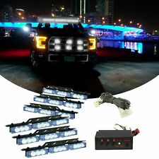 54 LED All White Car Truck Strobe Emergency Warning Light for Deck Dash Grille