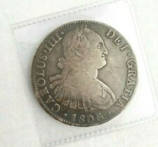 1806 🔥 Mexico Mo TH Large 8 Reales Silver Portrait Coin ✨ KM 109 🌞 8R