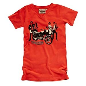 RARE TRIUMPH LADIES RETRO TEE RED WOMEN'S LOGO T-SHIRT WAS $34.99 ALL SIZES