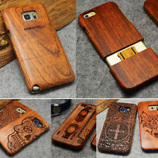 100% Natural Wood Bamboo Case Cover For Samsung Galaxy S5 S6S S7 Edge Note  4 5