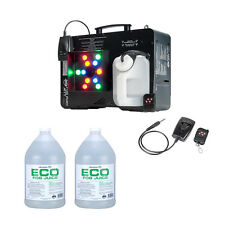 ADJ Fog Fury Jett Smoke Machine & LED Lights + Eco-Fog Juice Fluid, 2 Gallons