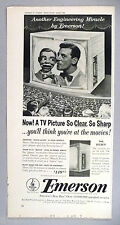 Paul Winchell & Jerry Mahoney for Emerson TV Television PRINT AD - 1953